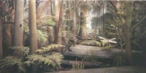 Ilustrare a padurilor Carbonifere